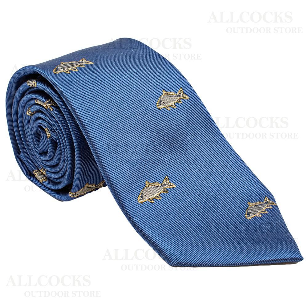 Allcocks Country Silk Tie - Carp - Royal Blue