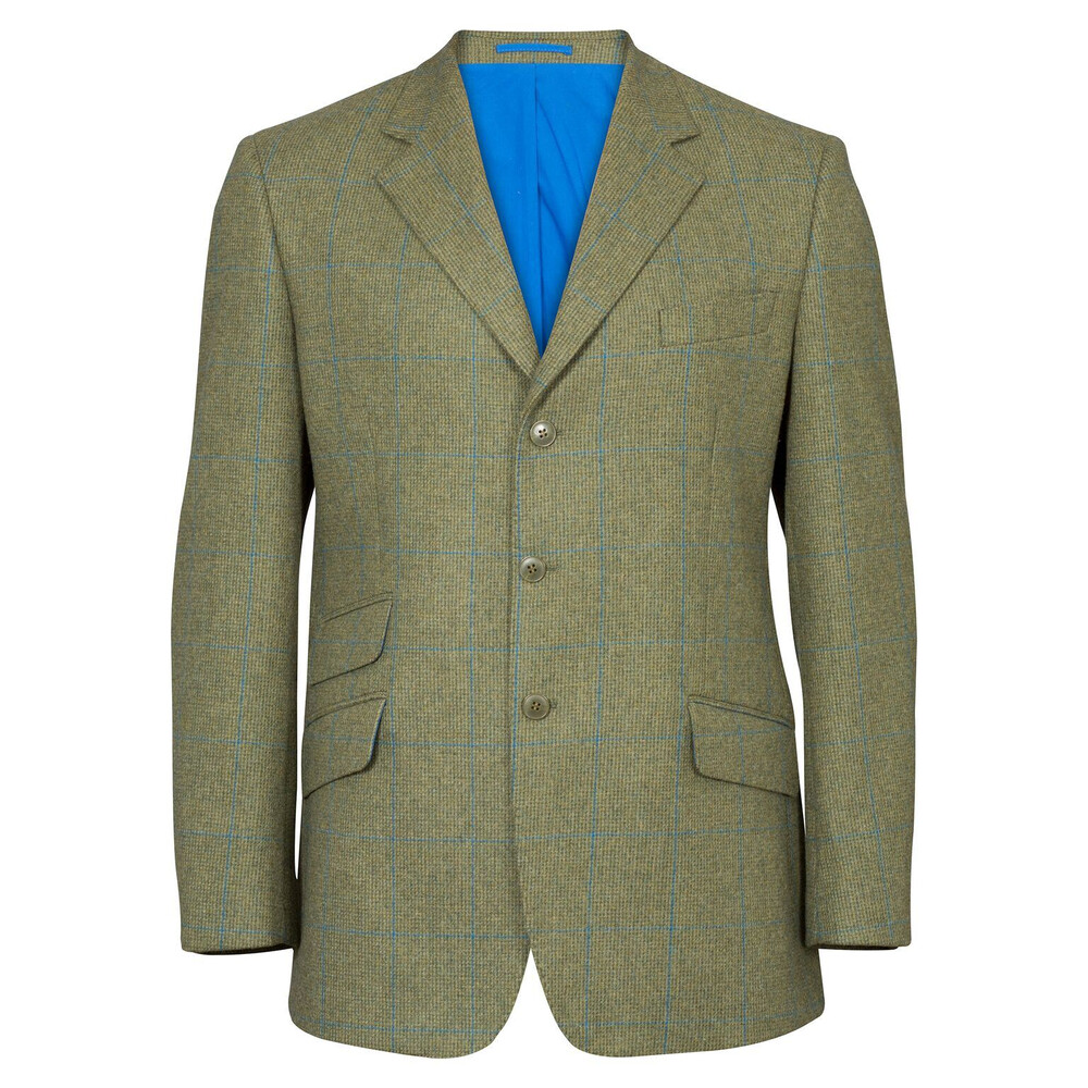 Alan Paine Combrook Tweed Blaser Lagoon