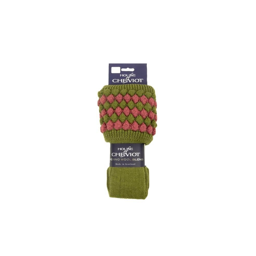 House of Cheviot House of Cheviot Lady Angus Sock -  Moss/Pink