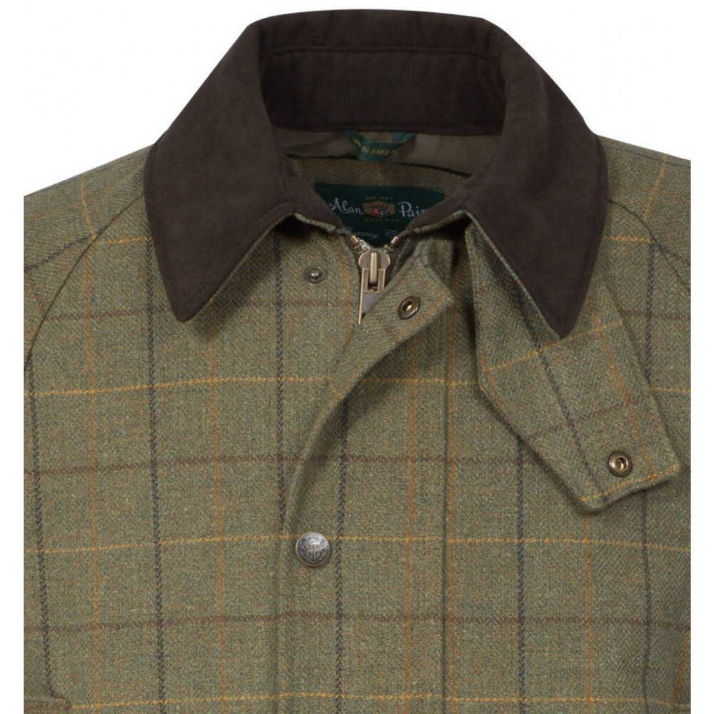 Alan Paine Rutland Tweed Coat Dark Moss