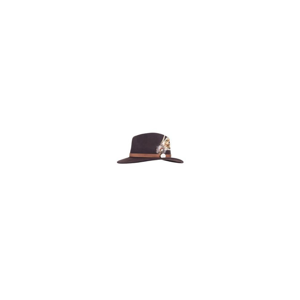 Hicks & Brown Hicks &  Suffolk Fedora Hat with Guinea and Pheasant Feather