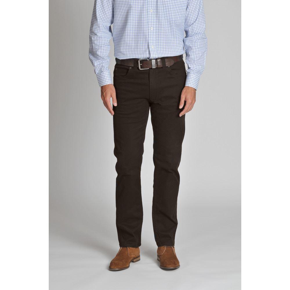 Schoffel Canterbury 5 Pocket Jean - EspressoLong Brown
