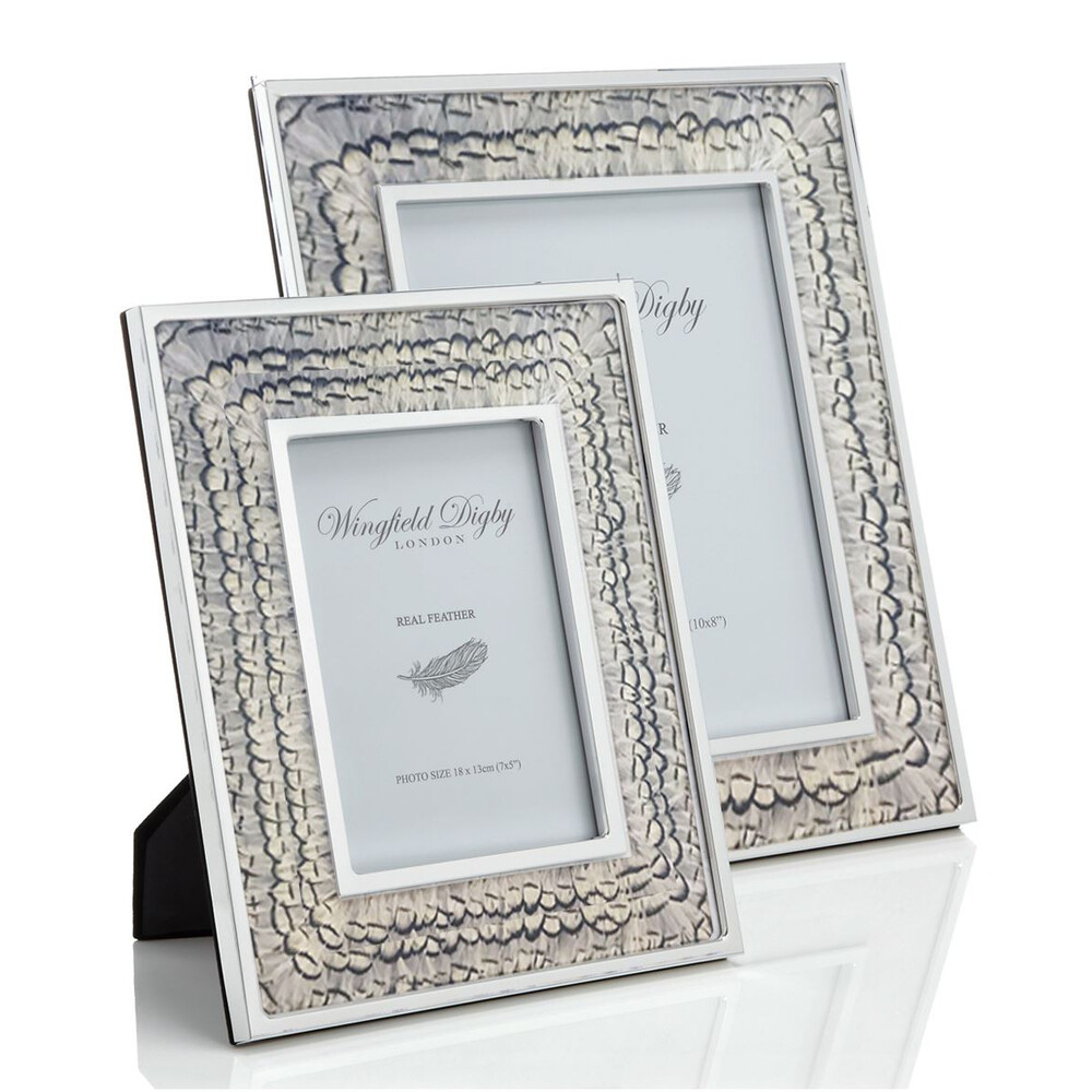 Wingfield Digby Wingfield Digby Photo Frame - White Pheasant Feather - 5 x 7""