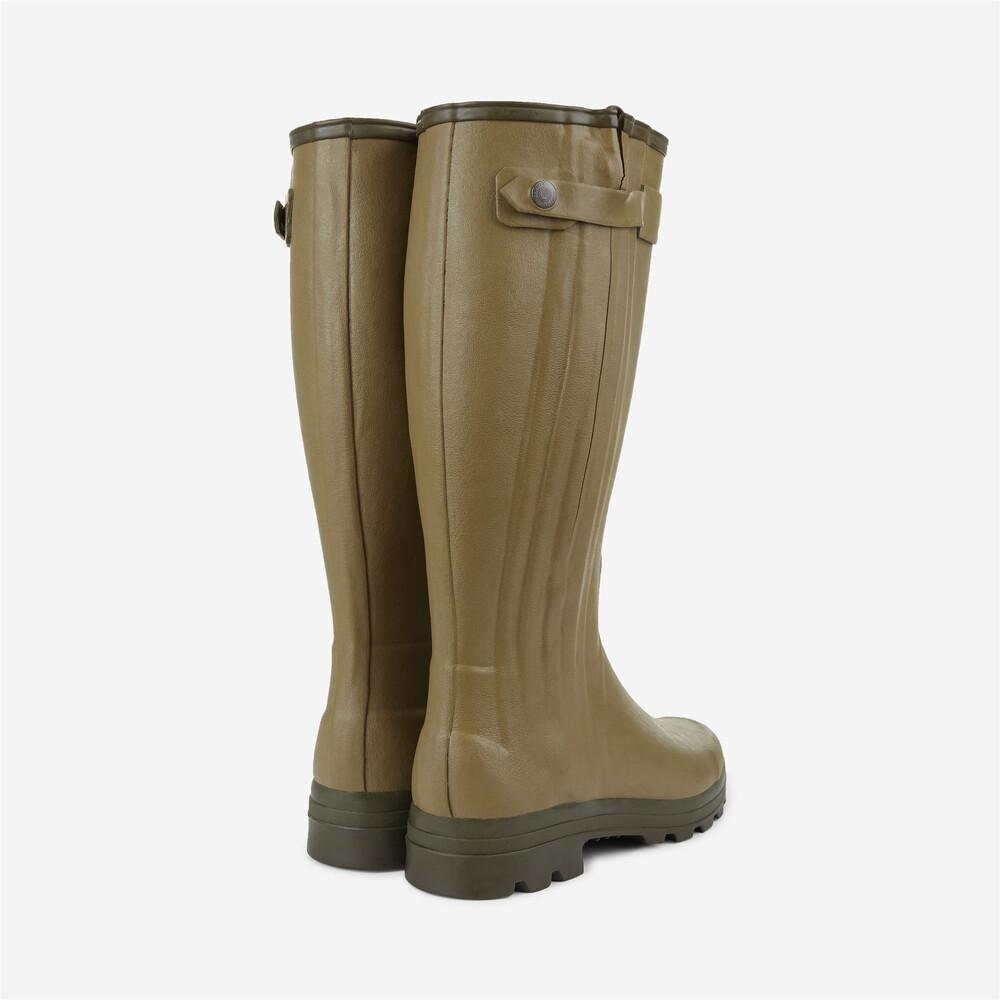 Le Chameau Chasseur Jersey Wellington Boots - Light Green Vert Vierzon
