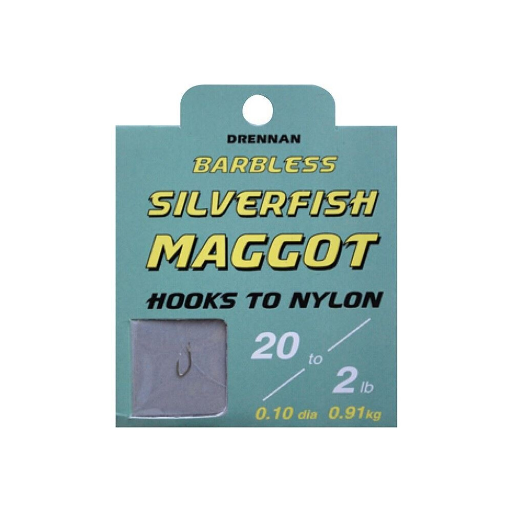Drennan Hook To Nylon - Silverfish Maggot