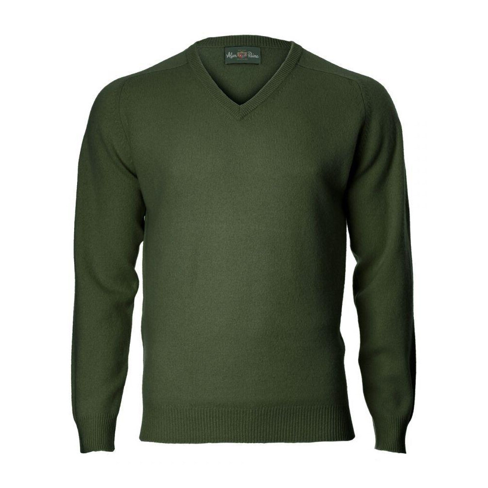 Alan Paine Alan Paine Kilsyth Semi-Classic Saddle Shoulder V-Neck