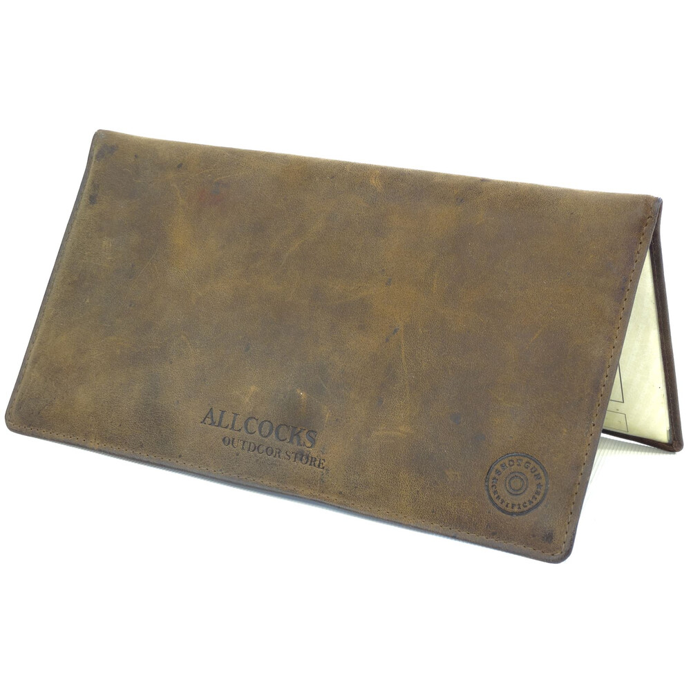 Allcocks Double Leather Shotgun & Firearms Certificate Wallet