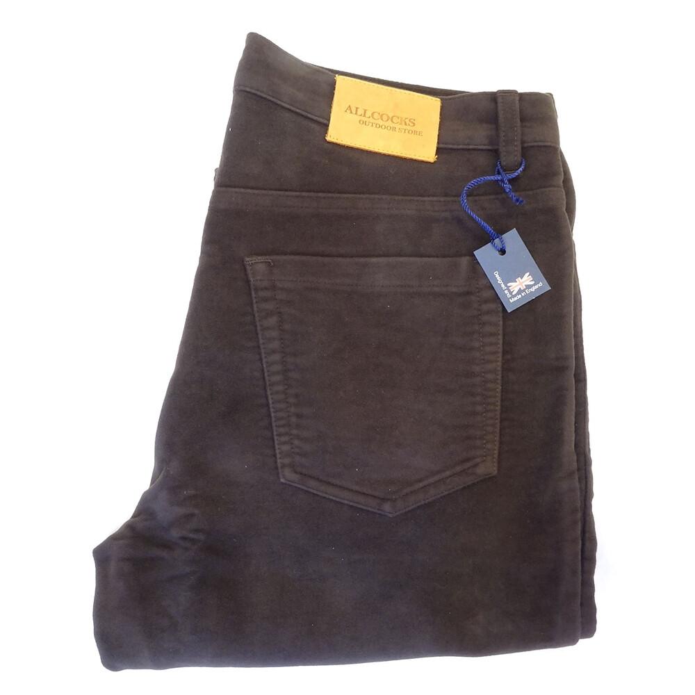 Allcocks Stonecutter Moleskin Jeans - EspressoLong Brown