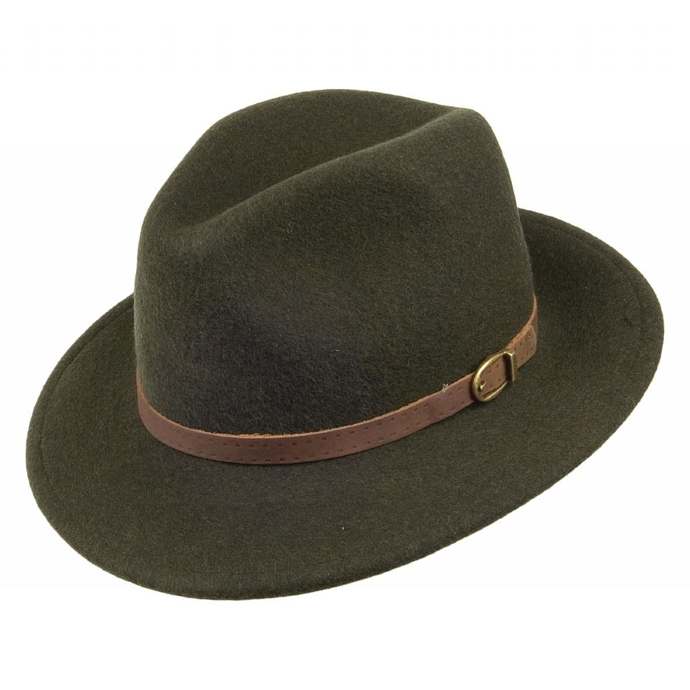 Olney Safari Soffelt Wool Felt Hat - Olive Olive