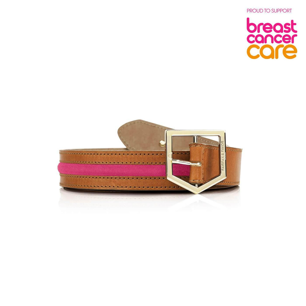 Fairfax & Favor Fairfax & Favor Hampton Breast Cancer Care Belt - Pink
