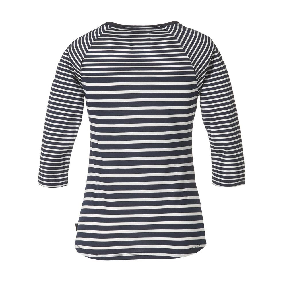 Musto Eleanor 3/4 Sleeve Tee Shirt - Navy and White Multi