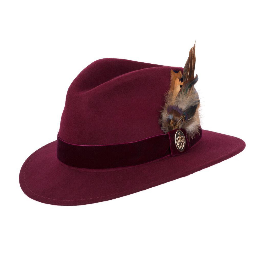 Hicks & Brown Chelsworth Fedora - Maroon Red
