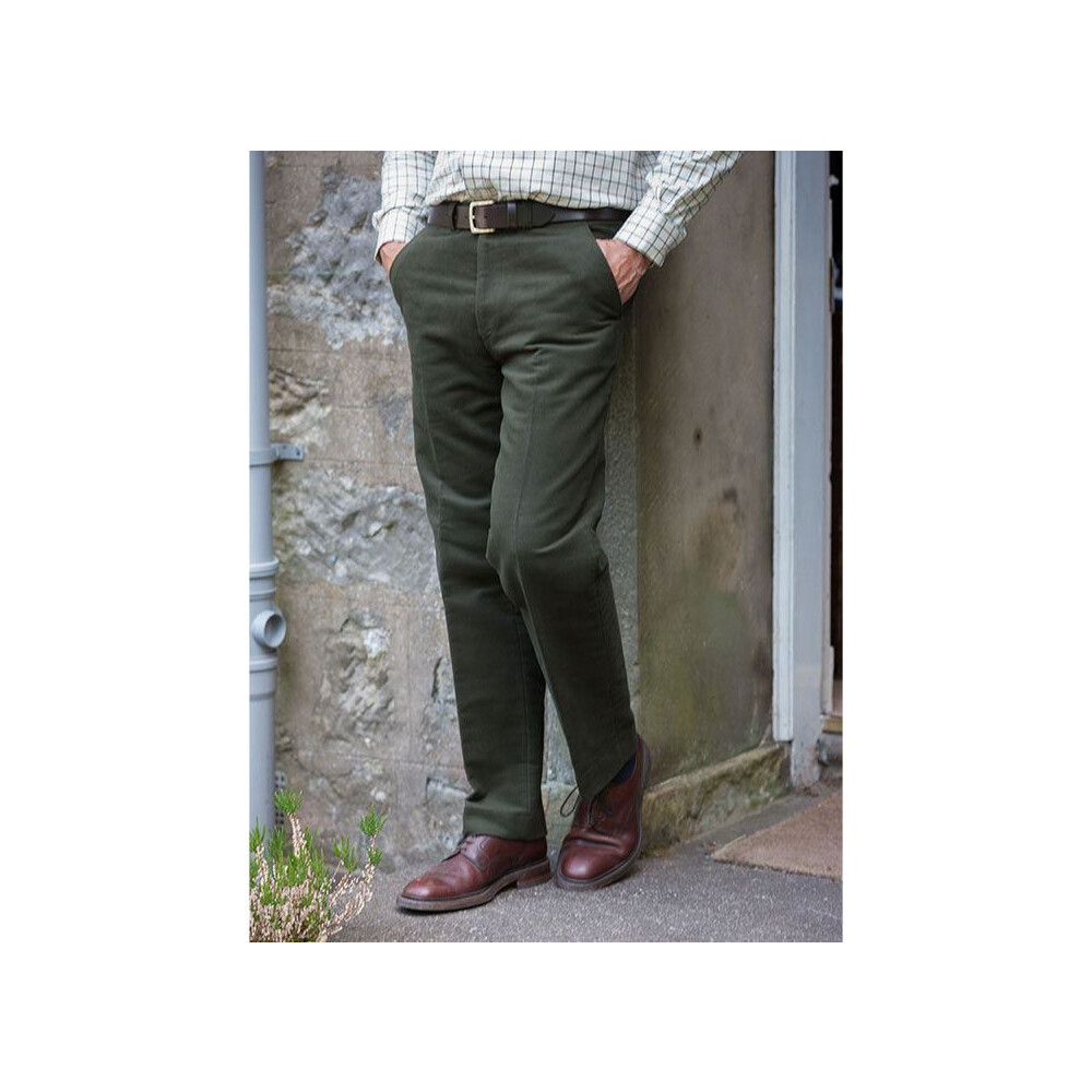 Hoggs Of Fife Hoggs of Fife Monarch Moleskin Trousers - Dark OliveRegular Green