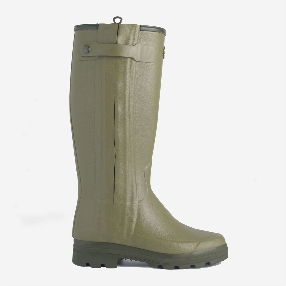 Le Chameau Chasseurnord Neoprene Lined Wellington Boots - Light Green Light Green
