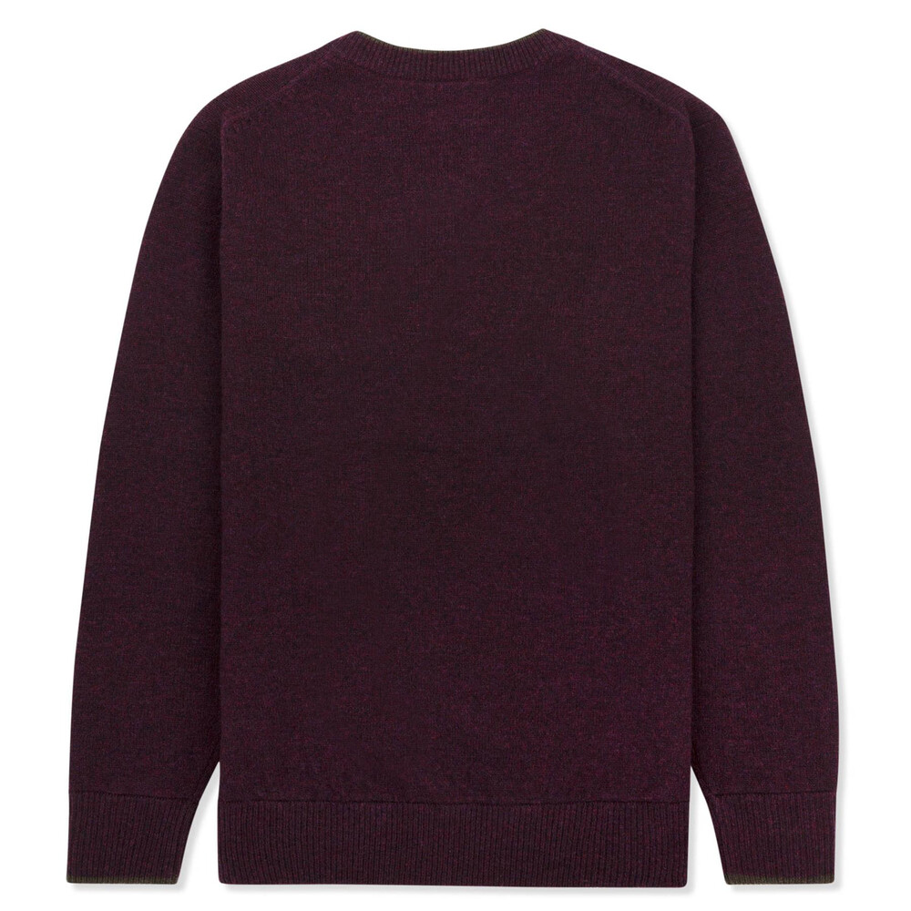 Musto Shooting V-Neck Knit - Damson Purple