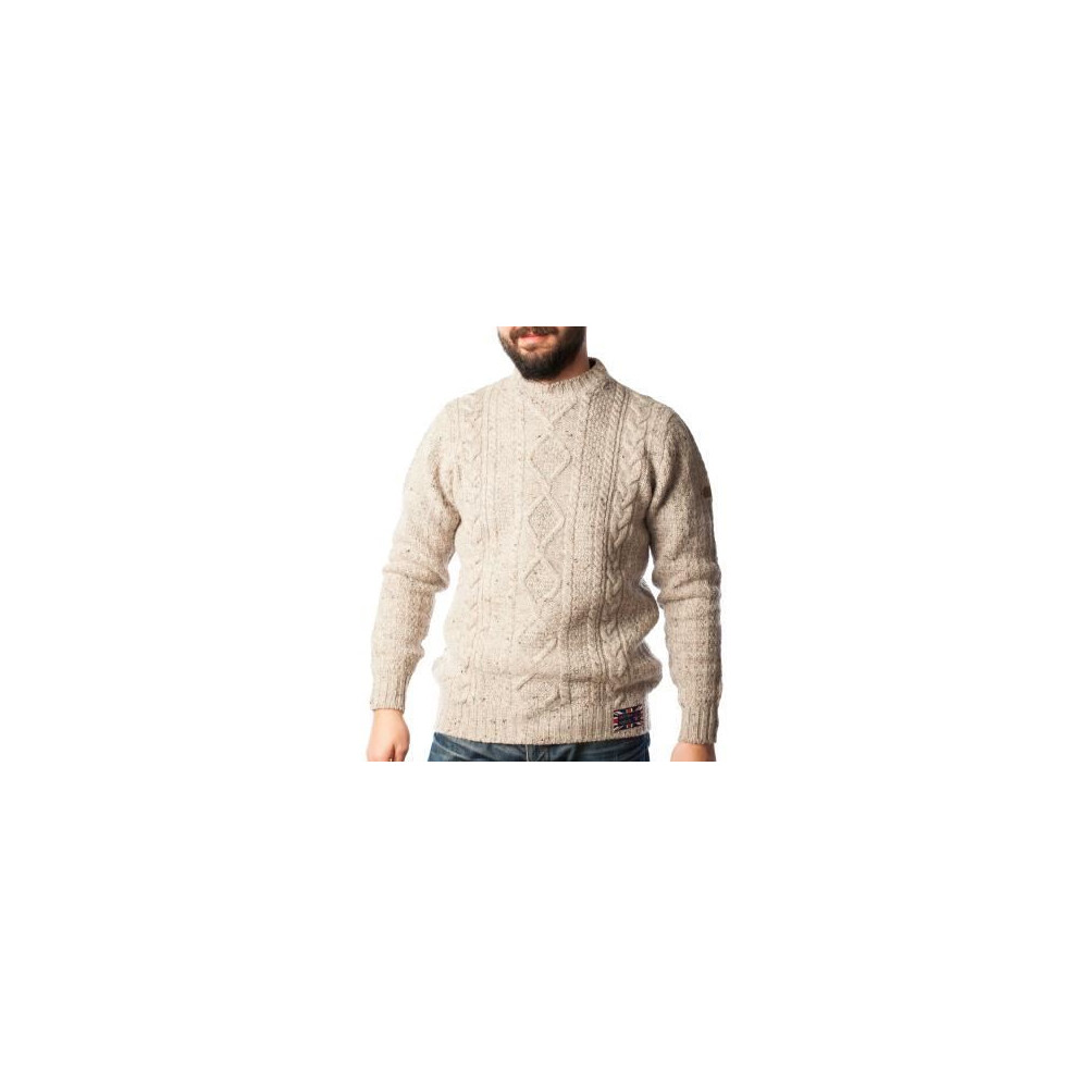 Hawick Arran Cable Knit Jumper - Skiddaw