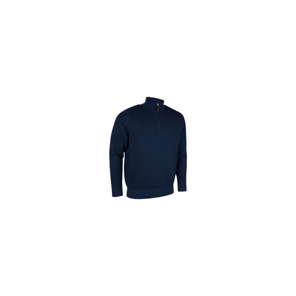 Glenmuir Glenmuir Eton Men's Zip Neck Sweater - Navy