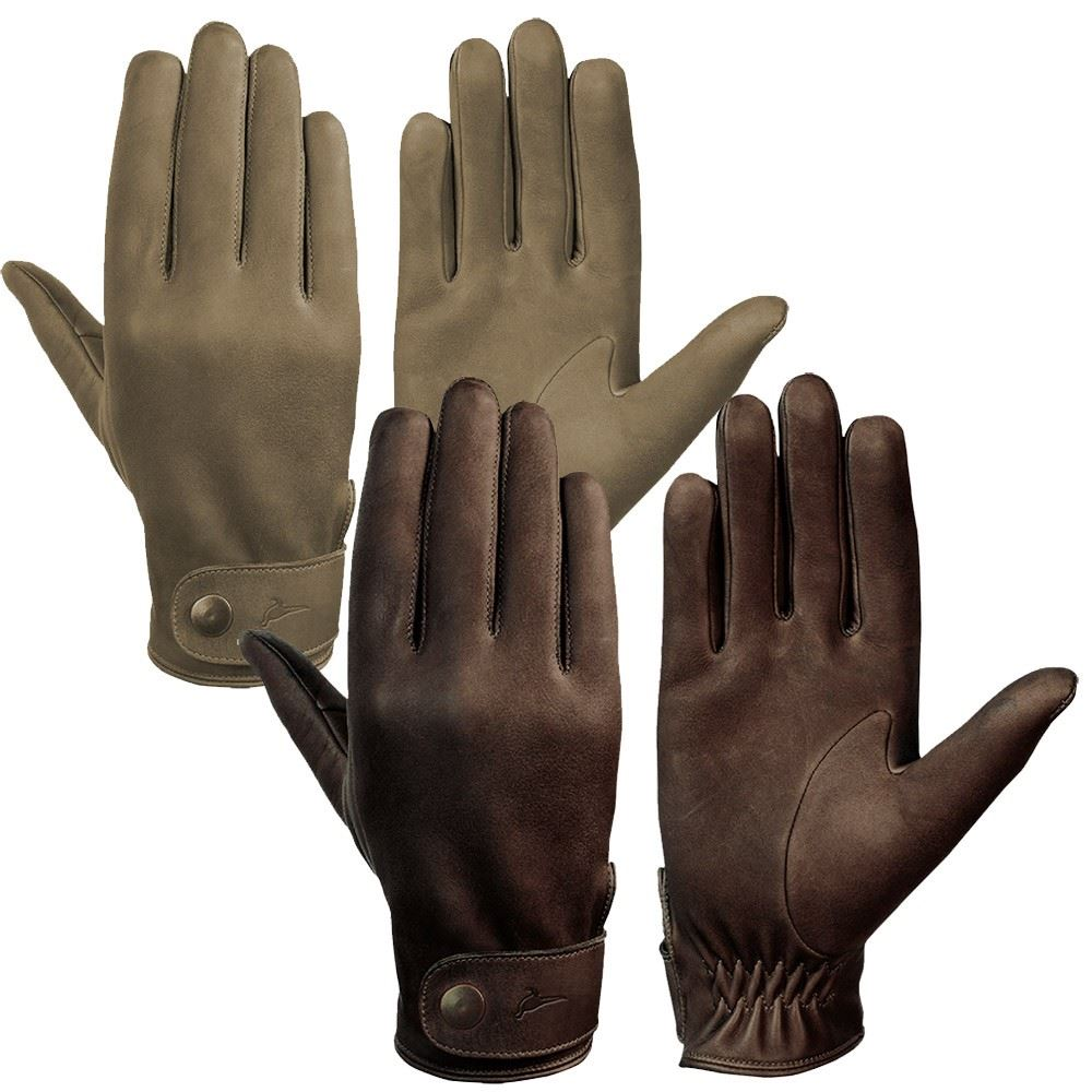 Laksen London Nubuck Calfskin Gloves Brown