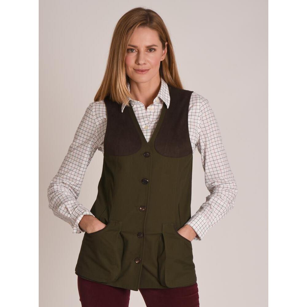 Schoffel All Season Ladies Shooting Vest - Dark Olive Dark Olive