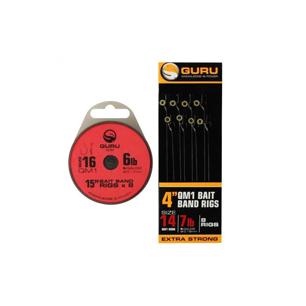 """Guru Bait Band Ready Rig - QM19lb (0.22mm) - 4"""""""