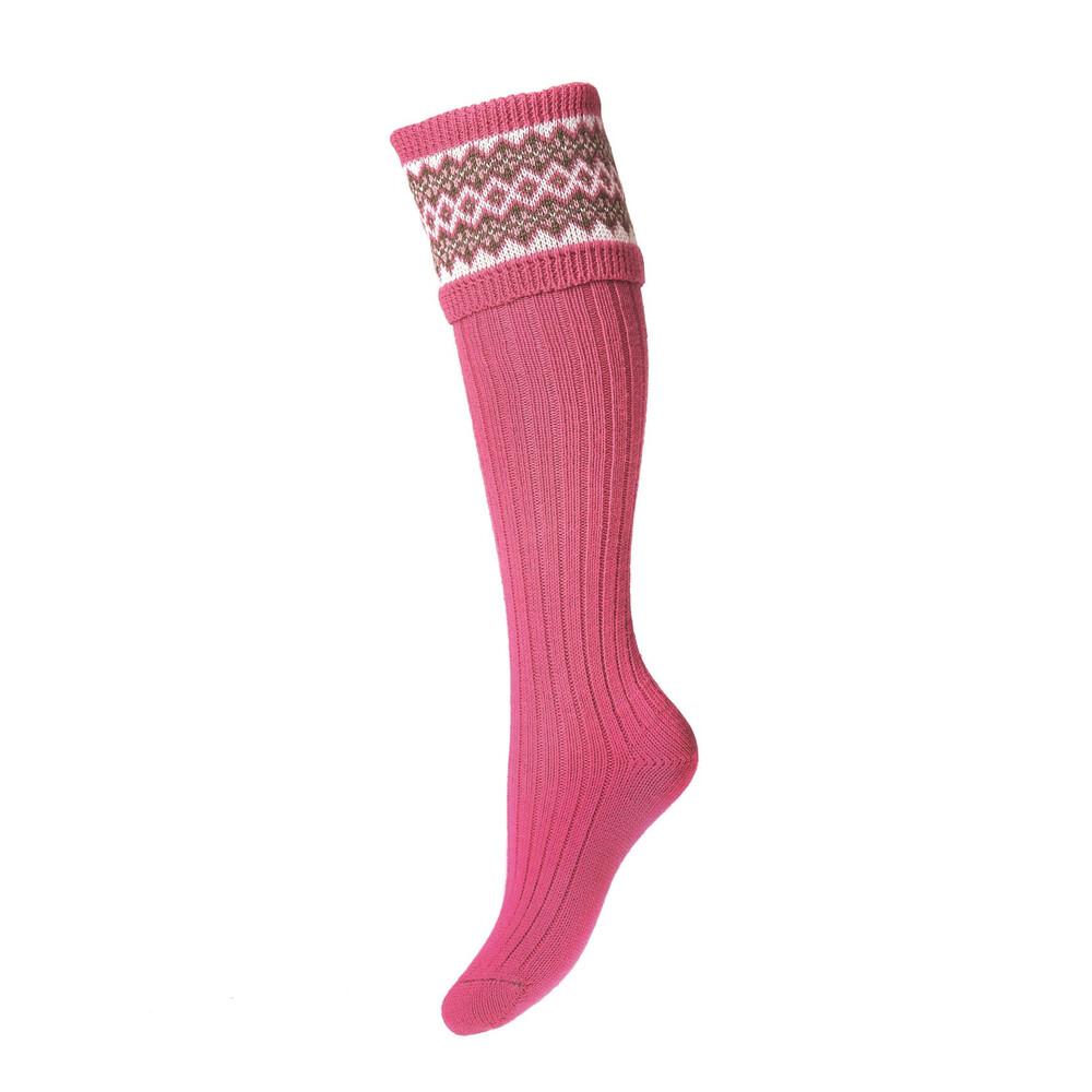 House of Cheviot House of Cheviot Lady Fairisle Sock - Dusky Pink