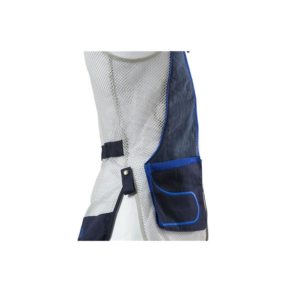Beretta Men's DT11 Shooting Vest - Navy and Silver Navy & Silver