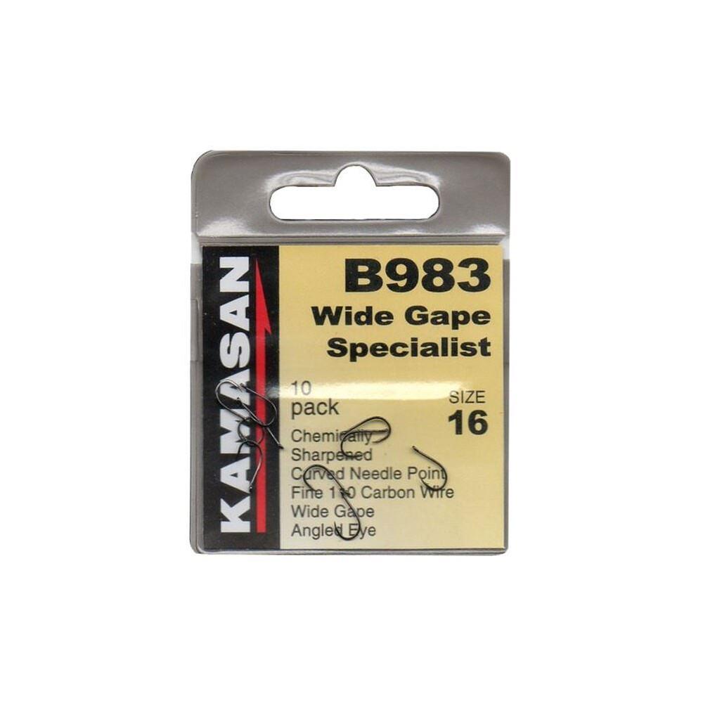 Kamasan B983 Wide Gape Hooks - Eyed - Barbed
