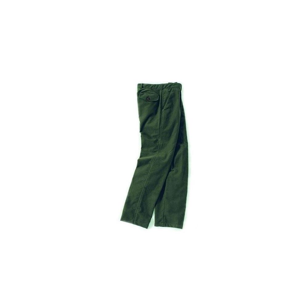 Laksen Moleskin Trousers - Olive Green