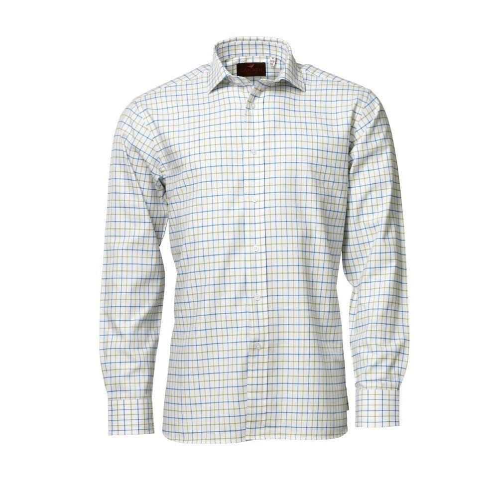 Laksen Laksen Barnaby Shirt - Blue & Moss