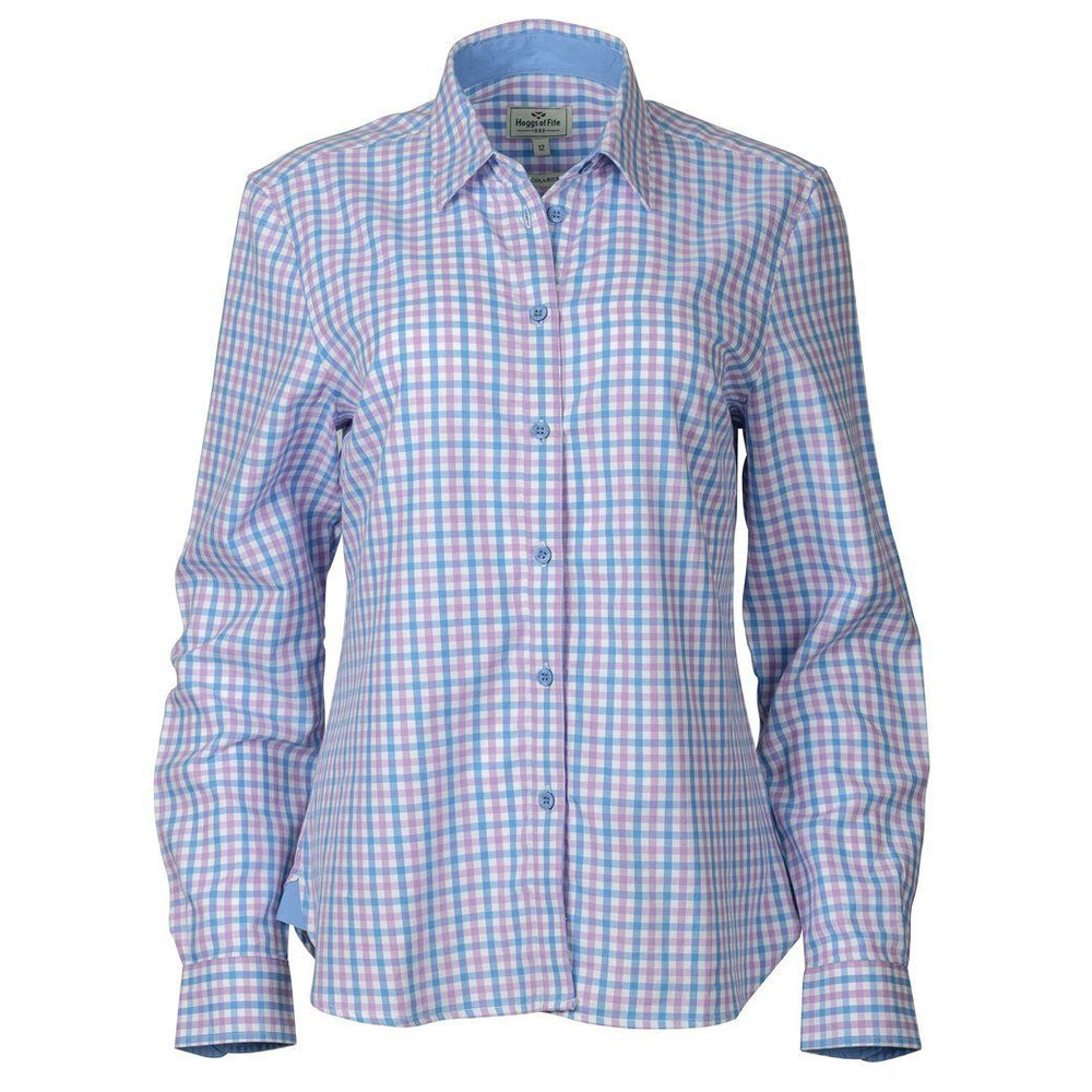Hoggs Of Fife Hoggs of Fife Becky Ladies Cotton Shirt - Pink/Blue Check Multi