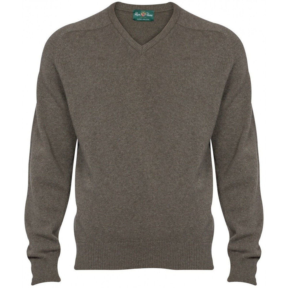 Alan Paine Alan Paine Stratford Geelong Wool V-Neck Jumper - Landscape