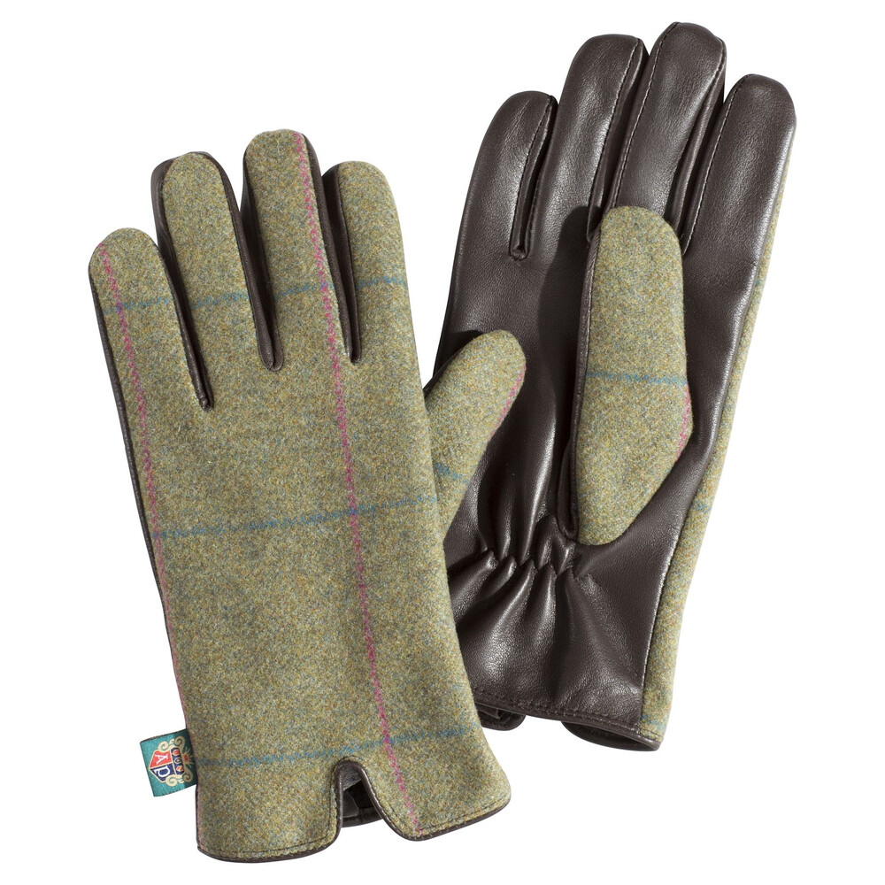 Alan Paine Alan Paine Combrook Ladies Tweed Glove - Juniper