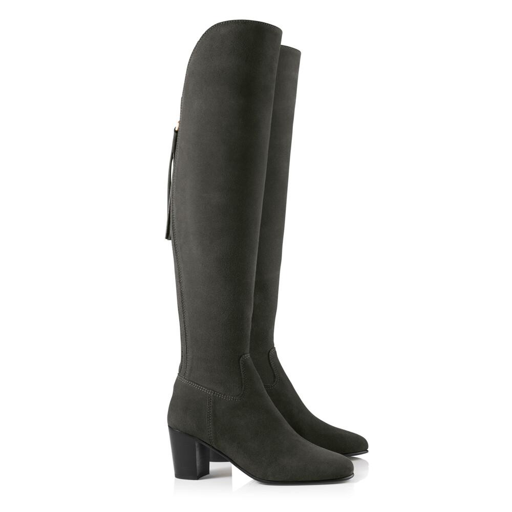 Fairfax & Favor Heeled Amira Boot - Grey