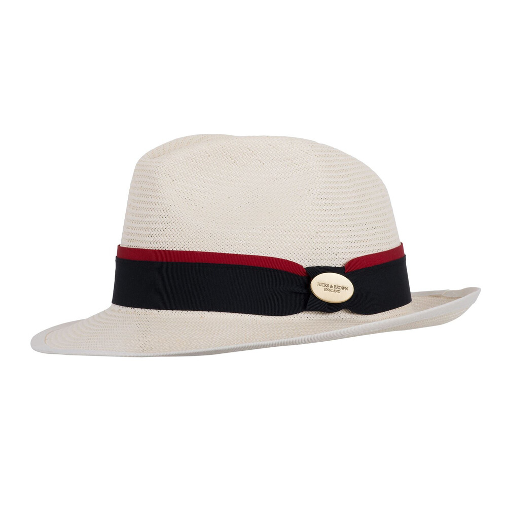 Hicks & Brown Hicks & Brown Holkham Panama Hat - Navy/Red
