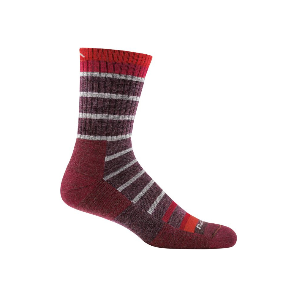 Darn Tough Darn Tough Via Ferrata Micro Crew Cushion Mens Sock - Maroon