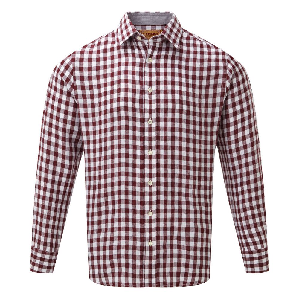 Schoffel Schoffel Sandbanks Linen Shirt - Fig Check
