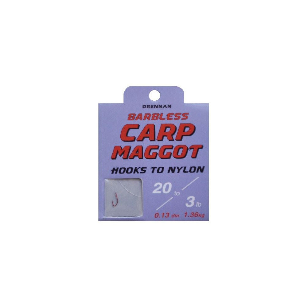Drennan Hook To Nylon - Carp Maggot