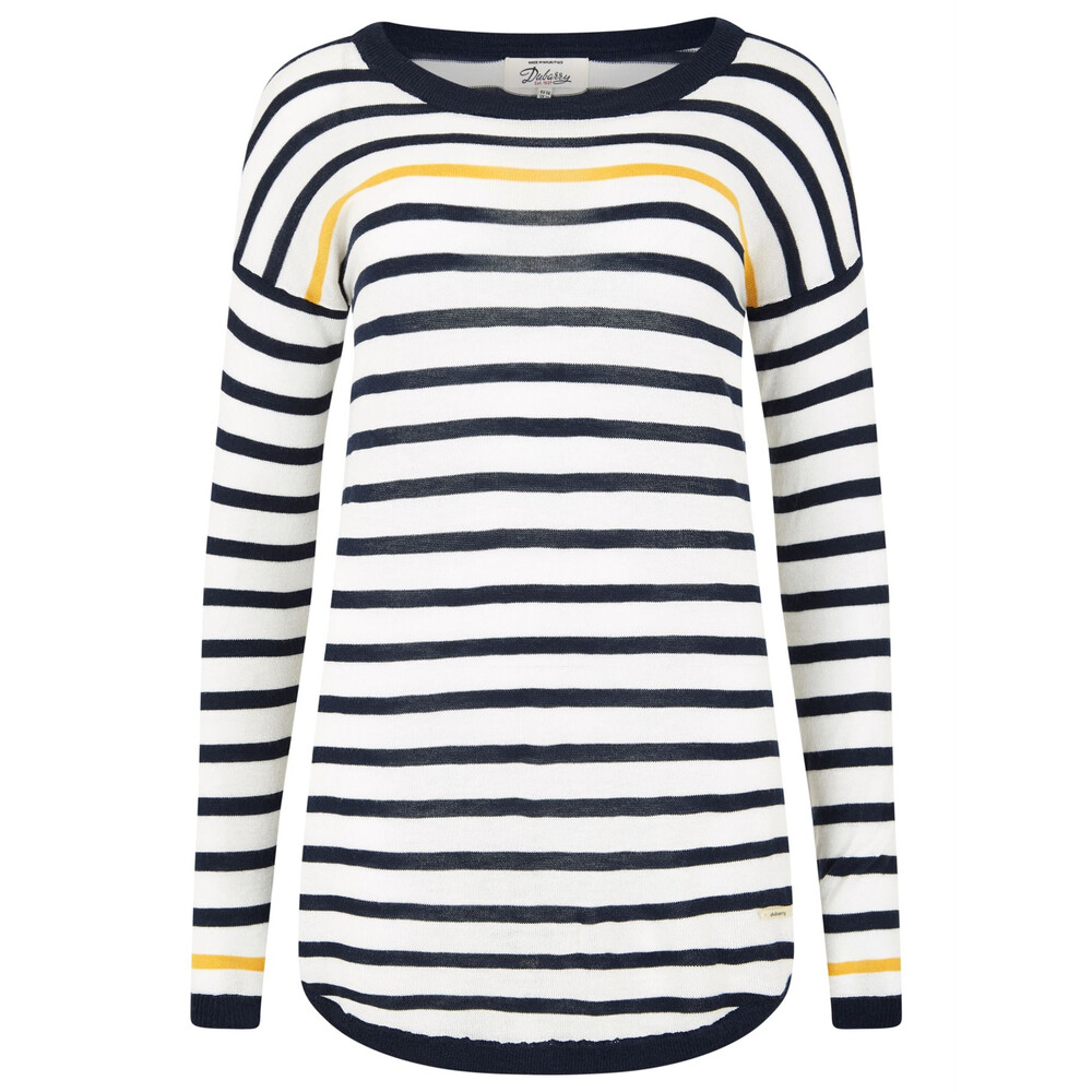 Dubarry Dubarry Abbeyside Ladies Striped Top - White