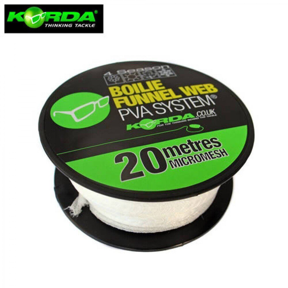 Korda Boilie Funnel Web 4 Season Micromesh - 20 Metres Unknown