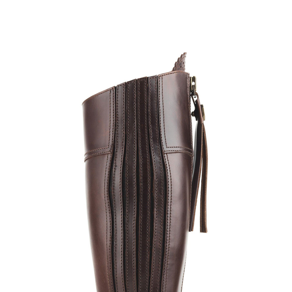 Fairfax & Favor Heeled Regina Leather Boot - Mahogany Mahogany