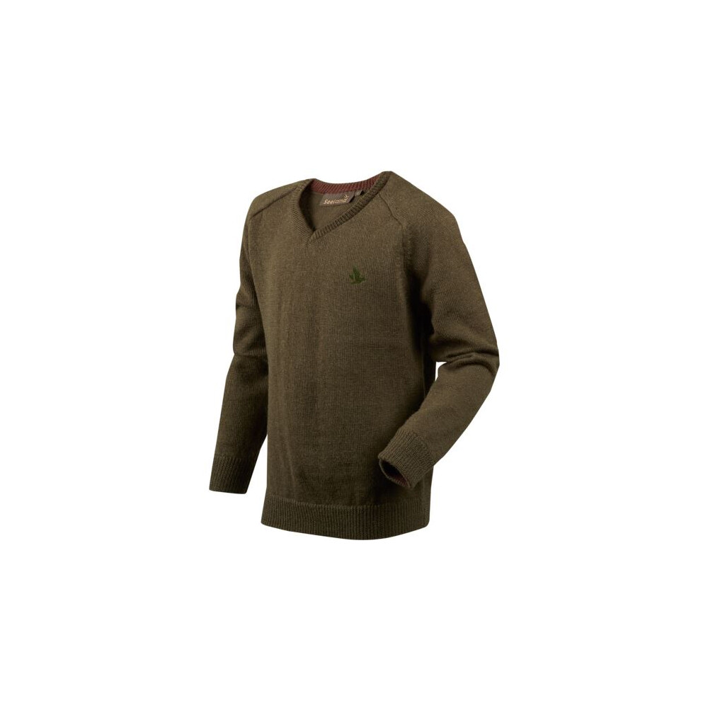 Seeland Clent Kids Pullover - Shaded Olive Shaded Olive