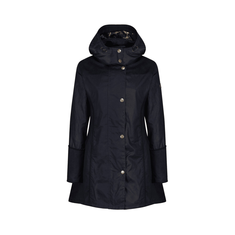 Welligogs Perditta Wax Waterproof Coat - Navy Blue