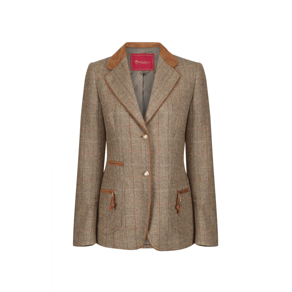 Welligogs Westminster Jacket - Hazel Check Brown