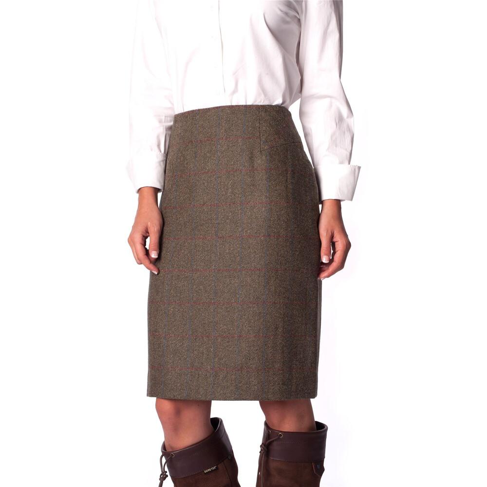 Dubarry Fern Tweed Pencil Skirt - Moss Moss