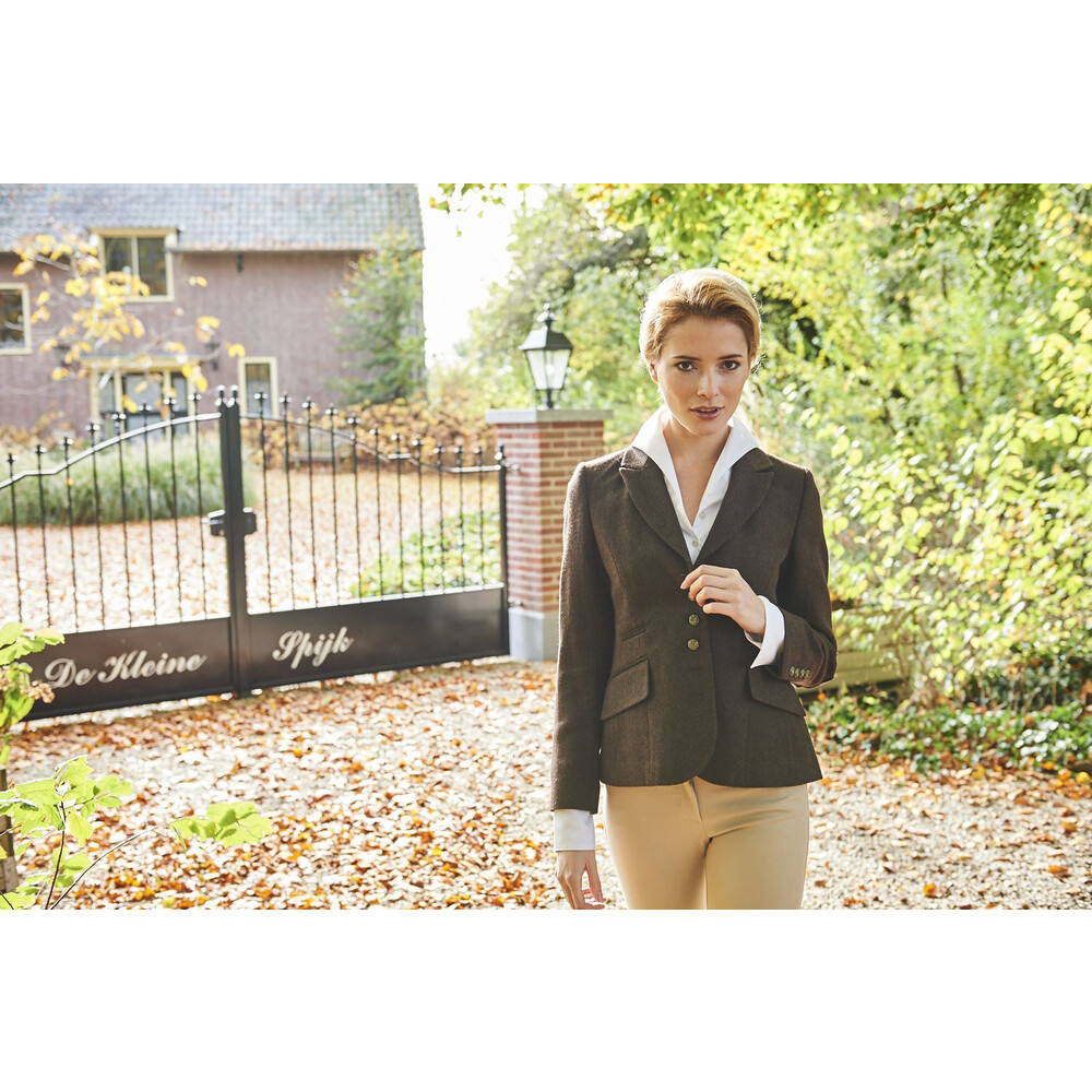 Anna Lascata Virginia Jacket - Herringbone Tweed