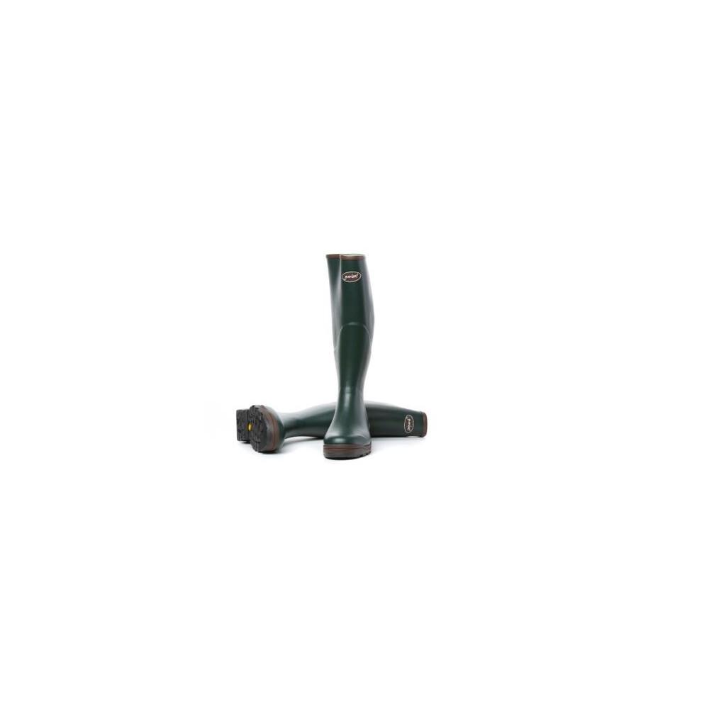 Gumleaf Field Vibram Cotton Lined Wellington Boots Dark Green