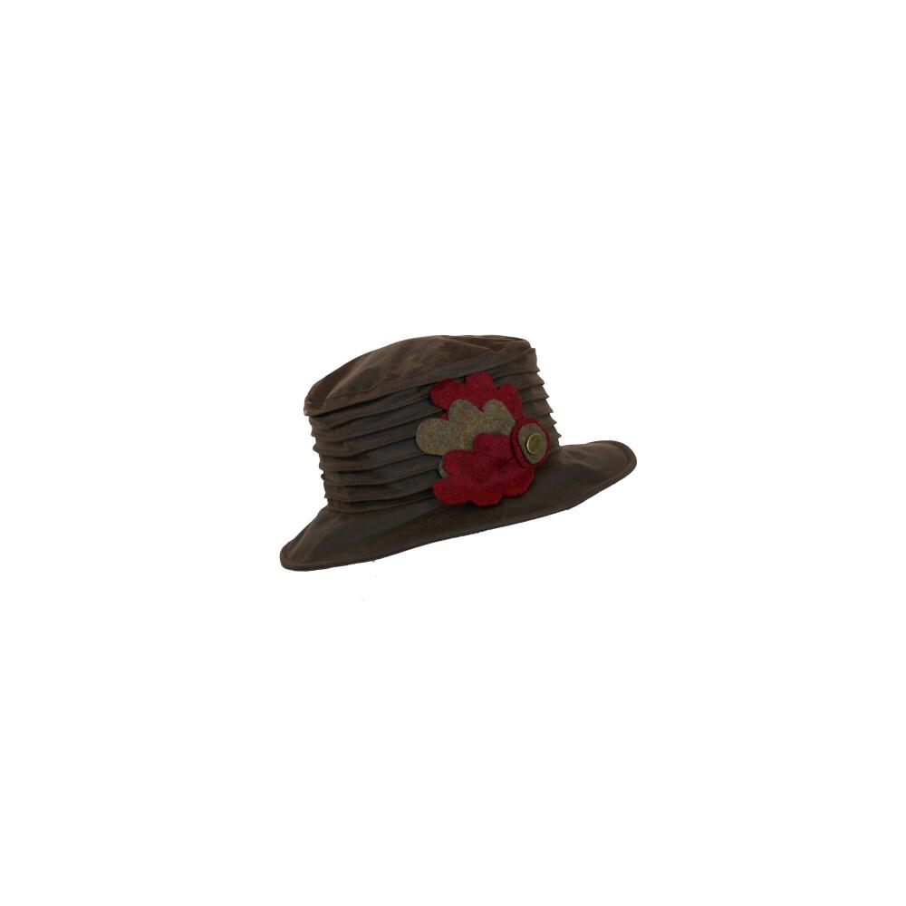 Olney Olney Nina Wax & Wool Leaves Hat - Brown
