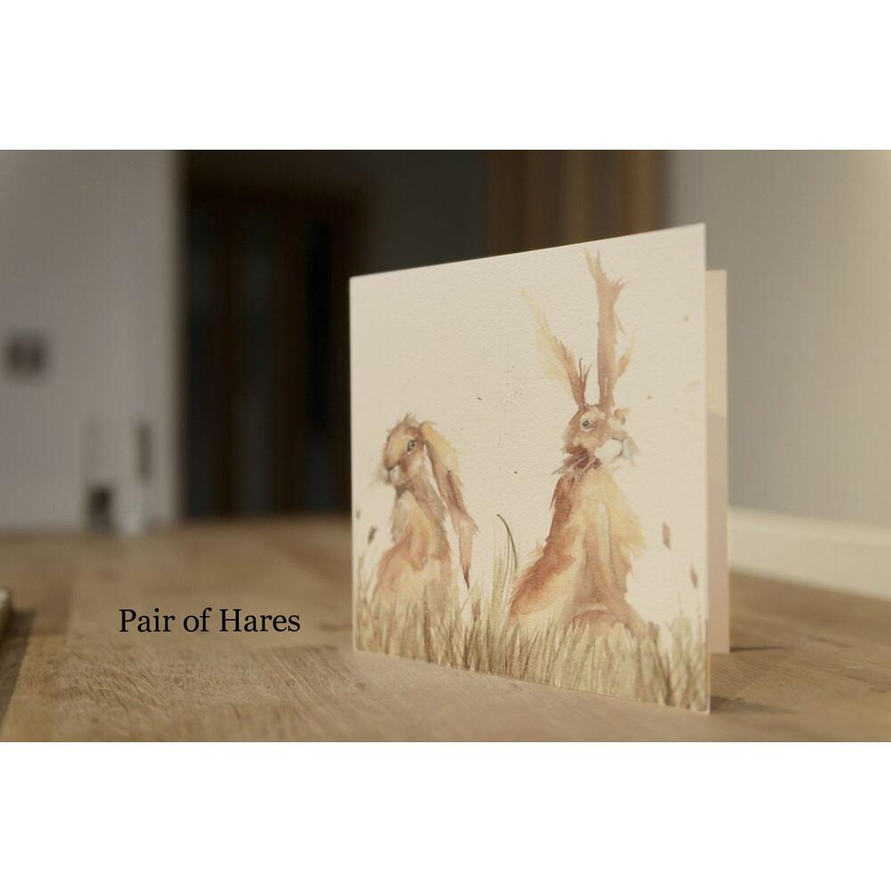 Kate Of Kensington Kate Of Kensington Greeting Cards - Pair of Hares