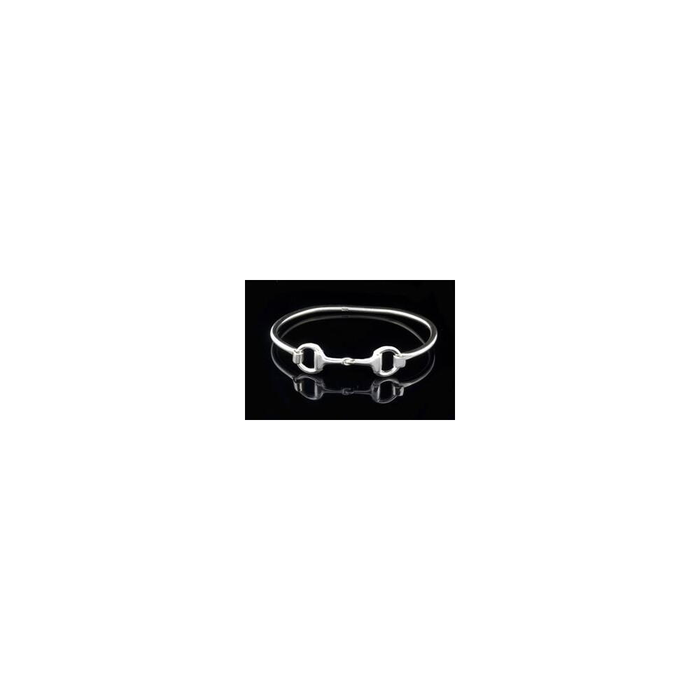 County Equestrian Jewellers County Equestrian Snaffle Bit Bangle Silver