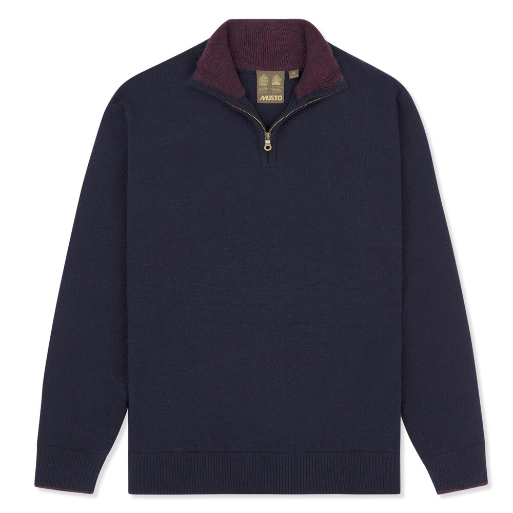Musto Shooting Zip Neck Knit - True Navy